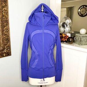 Lululemon Blue Stride Gym Jacket Zip Up